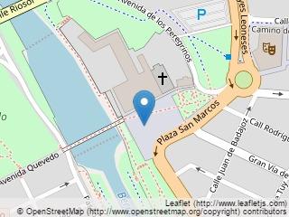 Plano de acceso de Hotel Parador Leon