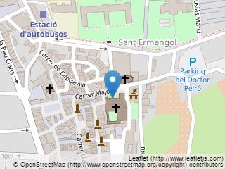 Plano de acceso de Hotel Parador La Seu D¿Urgell