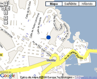 Plano de acceso de Hotel Parador Melilla