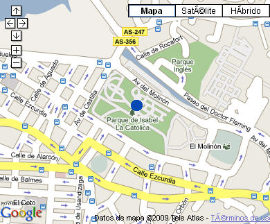 Plano de acceso de Hotel Parador Gijón