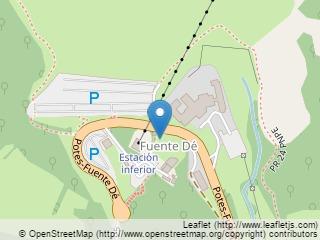 Plano de acceso de Hotel Parador Fuente Dé