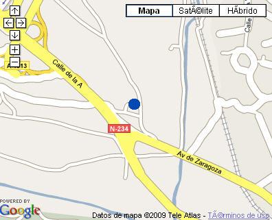 Plano de acceso de Hotel Parador Teruel