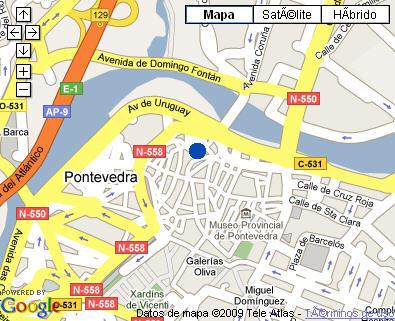 Plano de acceso de Hotel Parador Pontevedra