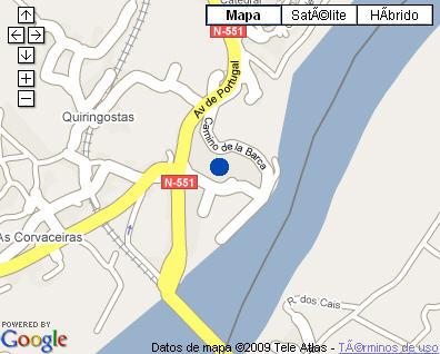 Plano de acceso de Hotel Parador Tui