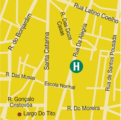 Plano de acceso de Hotel Tryp Porto Centro