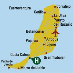 Plano de acceso de Hotel H10 Tindaya