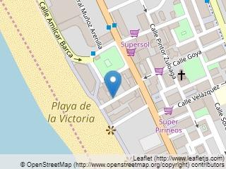 Plano de acceso de Hotel Playa Victoria