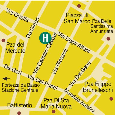 Plano de acceso de Athenaeum Personal Hotel