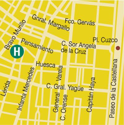 Plano de acceso de Aparthotel G3 Galeon