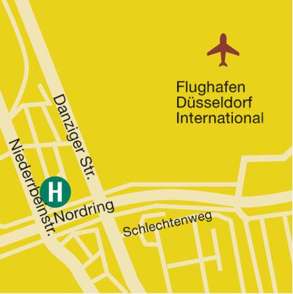 Plano de acceso de Air Hotel Wartburg