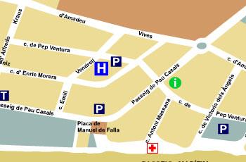 Plano de acceso de Hotel Aptos Cye Marina