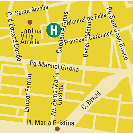 Plano de acceso de Hotel Bonanova Park