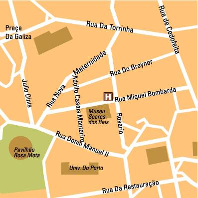 Plano de acceso de Hotel Eurostars Das Artes