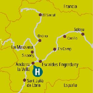 Plano de acceso de Hotel Husa Centric