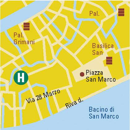 Plano de acceso de Duodo Palace Hotel
