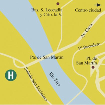Plano de acceso de Hotel Cigarral El Bosque