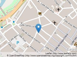 Plano de acceso de Hotel San Marcos
