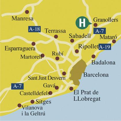Plano de acceso de Hotel Granollers
