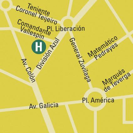 Plano de acceso de M Hotel