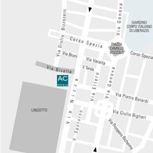 Plano de acceso de Hotel Ac Torino