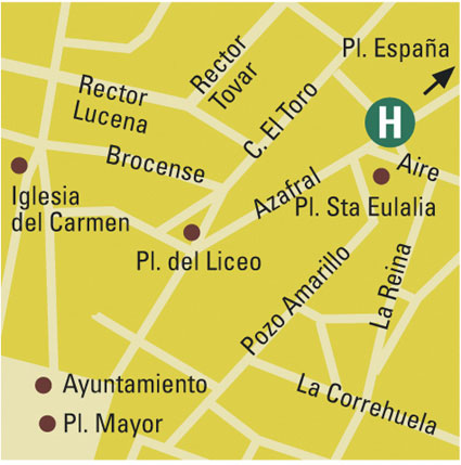 Plano de acceso de Hotel Monterrey