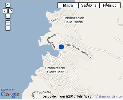Plano de acceso de Hotel Apts. Puerto Cala Vadella