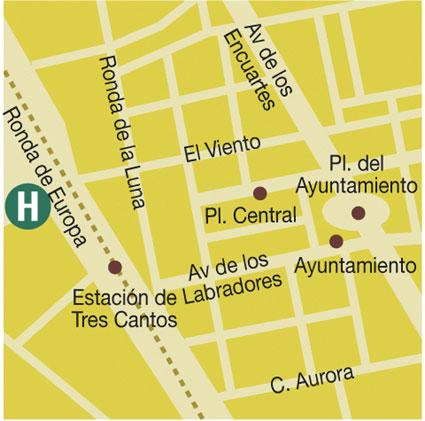 Plano de acceso de Hotel Foxa 3 Cantos