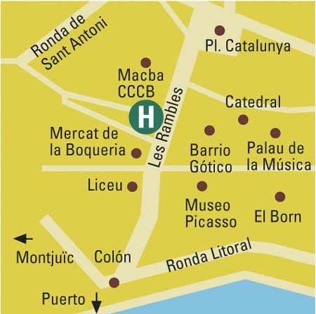 Plano de acceso de Hotel 1898