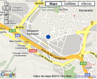 Plano de acceso de Hotel Novotel Bilbao Exhibition Center