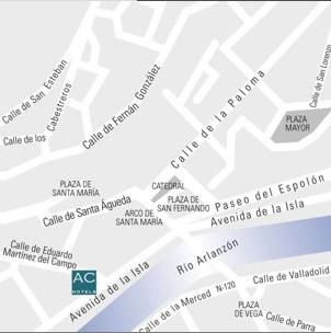 Plano de acceso de Hotel Ac Burgos