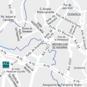 Plano de acceso de Hotel Ac Zizur Mayor