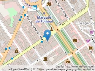 Plano de acceso de Hotel Marques De Pombal