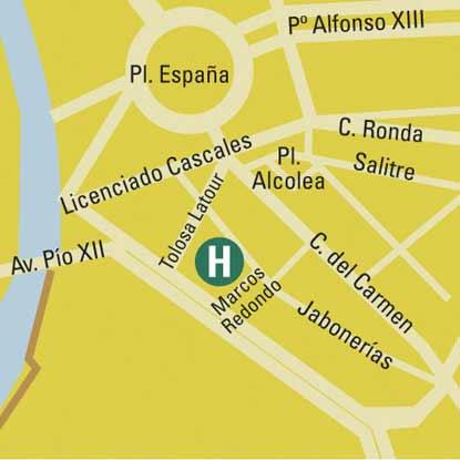 Plano de acceso de Hotel Husa Cartagonova