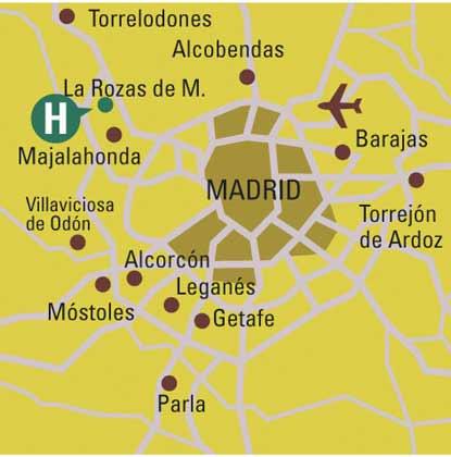 Plano de acceso de Gran Hotel Las Rozas