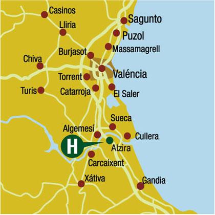 Plano de acceso de Hotel Reconquista
