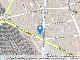 Plano de acceso de Hotel La Fleche D  Or (75008)