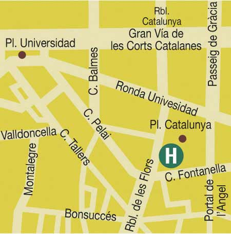 Plano de acceso de Hotel Olivia Plaza
