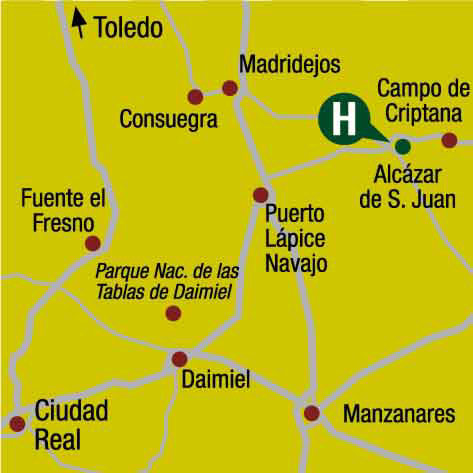 Plano de acceso de Hotel Intur Alcazar San Juan