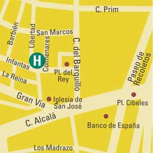 Plano de acceso de Hotel Lusso Infantas