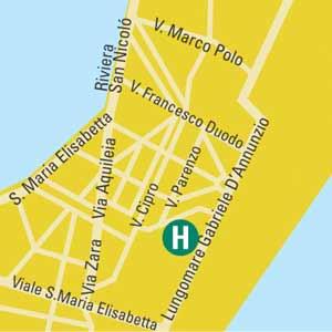 Plano de acceso de Hotel Venezia 2000