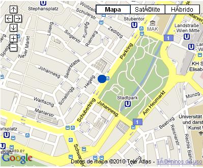 Plano de acceso de Radisson Sas Palais Hotel
