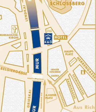 Plano de acceso de Hotel Erzherzog Johann