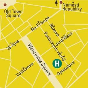 Plano de acceso de Yasmin Hotel