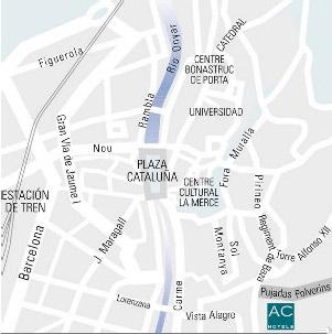 Plano de acceso de Hotel Ac Palau  De Bellavista