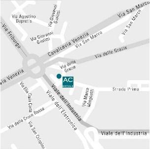 Plano de acceso de Hotel Ac Padova