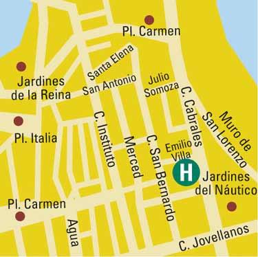 Plano de acceso de Hotel Alcomar