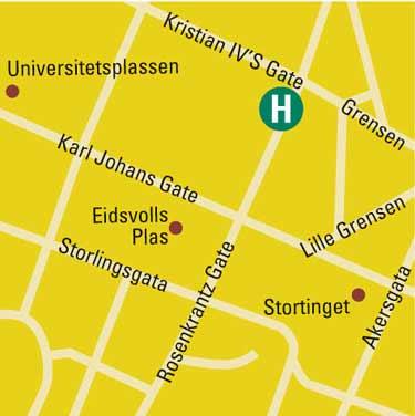 Plano de acceso de B.W. Hotel Bondeheimen