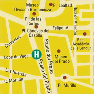 Plano de acceso de Hotel Vincci Soho