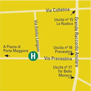 Plano de acceso de Eurostars Roma Congress Hotel And Conference Center