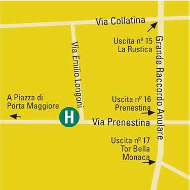 Plano de acceso de Eurostars Roma Congress Hotel And Conference Center